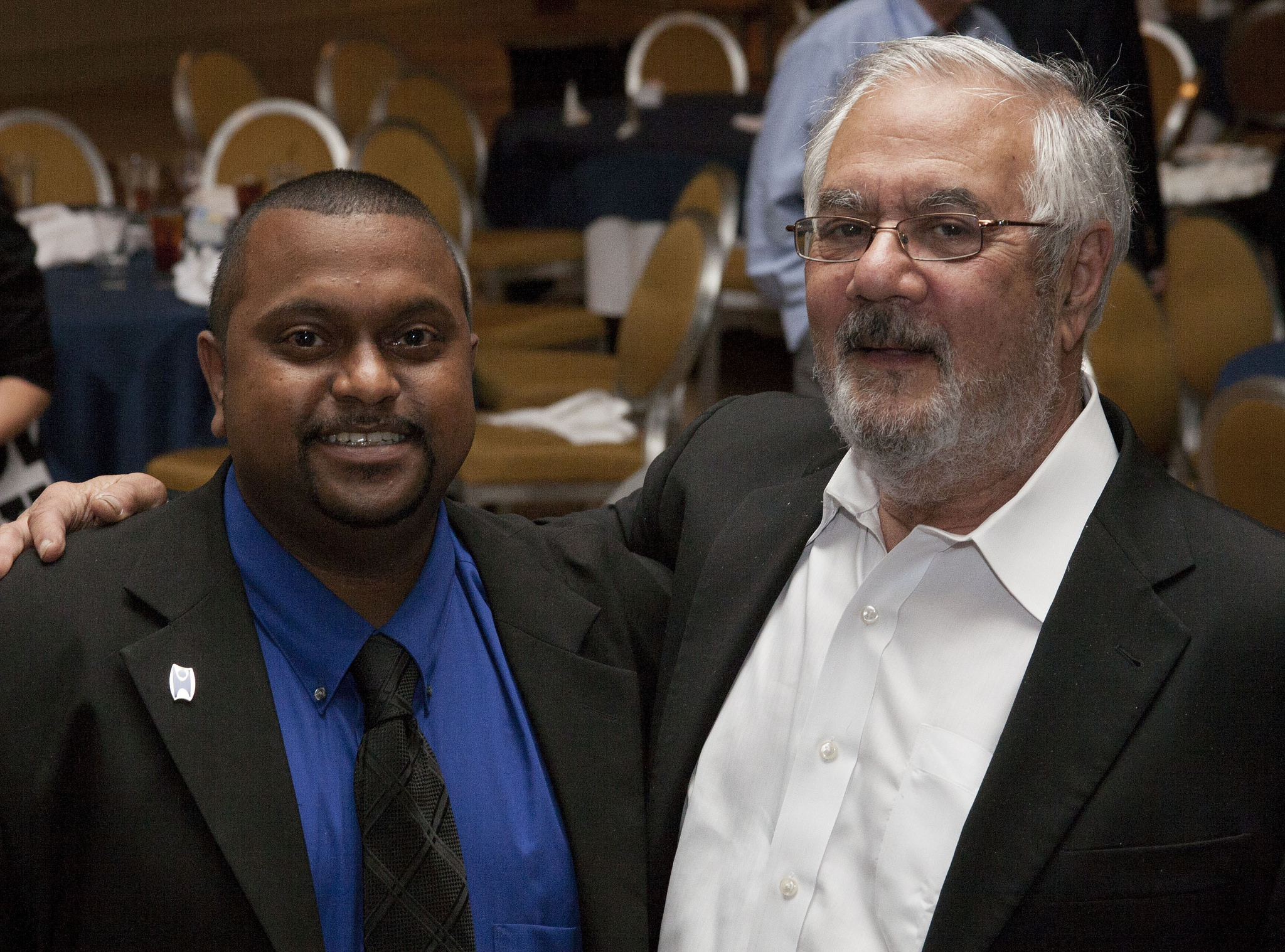 Bishop McNeill, Freethought Equality Fund PAC Coordinator, with 2014 Humanist of the Year Barney Frank