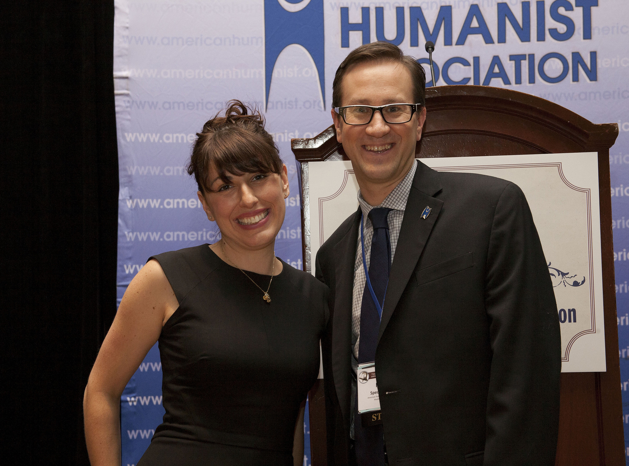 2014 Humanist Heroine, Jessica Valenti, with AHA Executive Director Roy Speckhardt