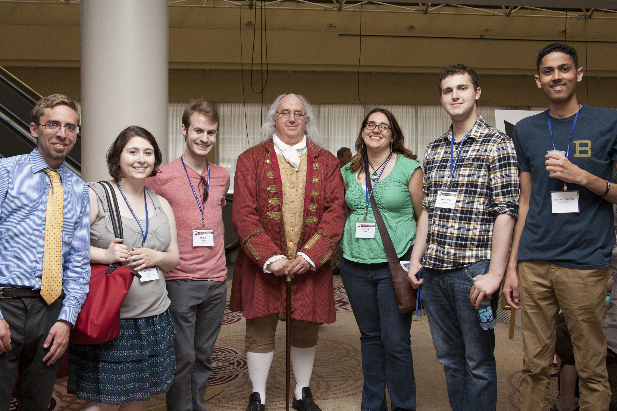 Benjamin Franklin & conference attendees